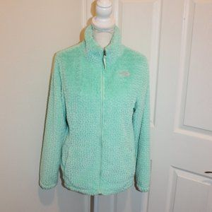 The North Face jacket. Mint green Fuzzy